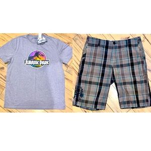 Casual Outfit Graphic T & Shorts XL/36